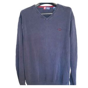 Men's Chaps Classic-Fit Navy Sweater